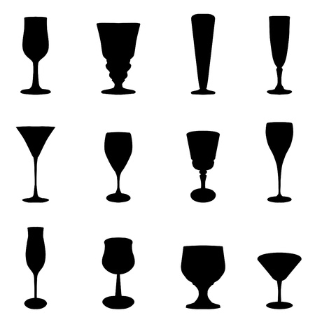 goblet: glass set Illustration
