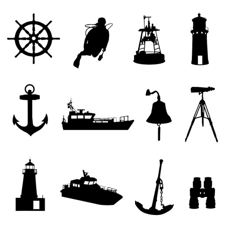 ruder: nautische Set