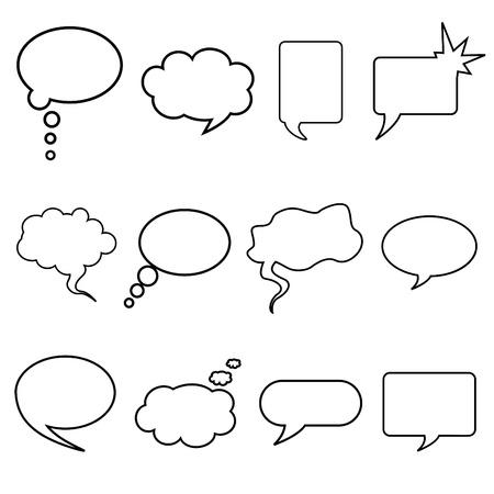 talking bubble set  Illustration
