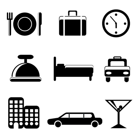 travel service icons Vector
