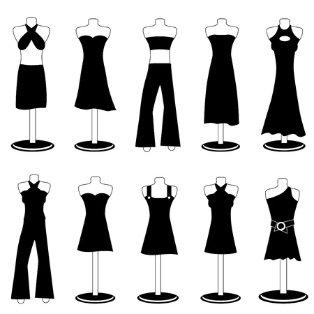 cloth back: woman fashion clothes Illustration