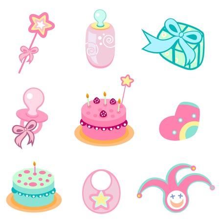 birthday design elements Vector