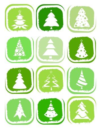 pine tree icons Stock Vector - 10854407