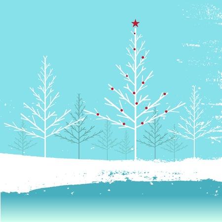 neige qui tombe: de fond en hiver Illustration