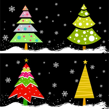 isolated background objects: christmas tree