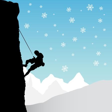 mountain climber Stock Vector - 10900890