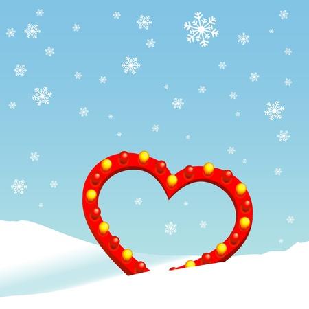 coolness: winter heart Illustration