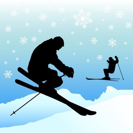 스키: 스키 일러스트