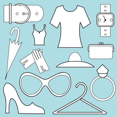 women fashion icons  Vector