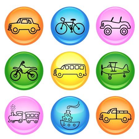 ship wheel: vehicle icons