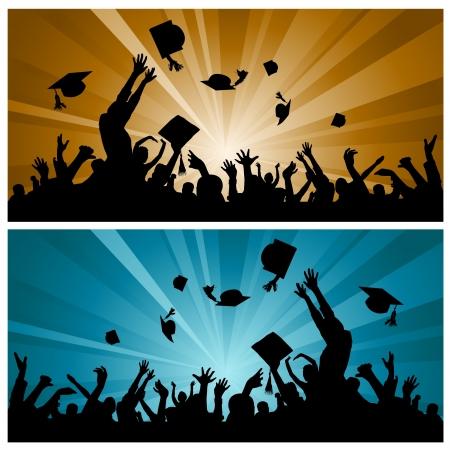 la fiesta de graduación Ilustración de vector