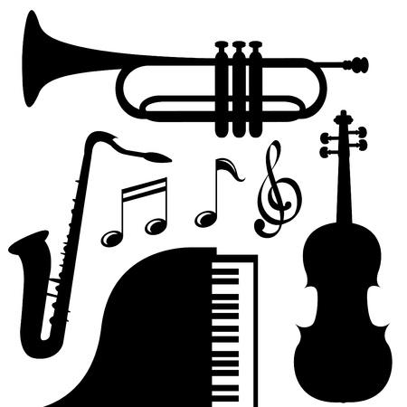 instrumentos musicales: Instrumentos musicales Vectores