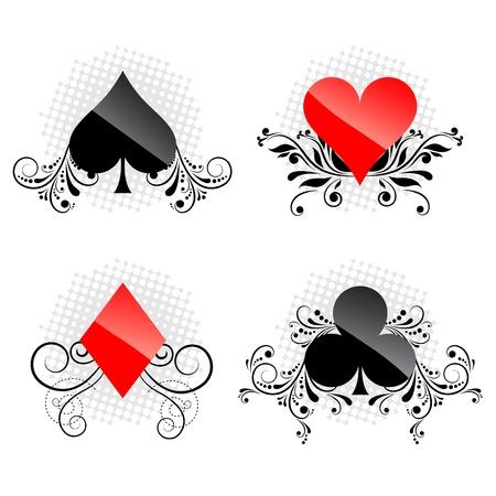 装飾的なカードのシンボル