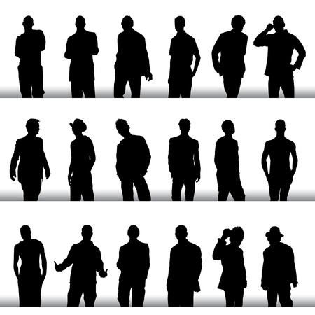 fashion men set Vector
