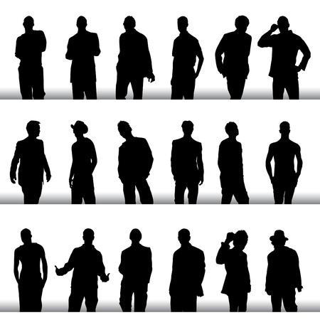 los hombres de moda creado Ilustración de vector