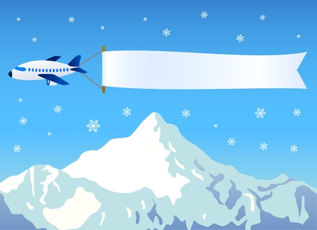 plane with blank message  Vector