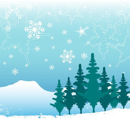 winter nature background Stock Vector - 11031109