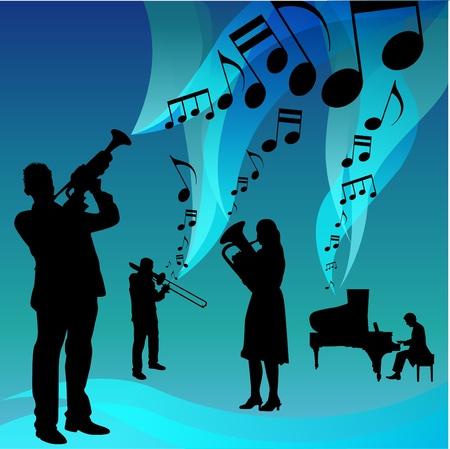 trombone: Musical group Illustration