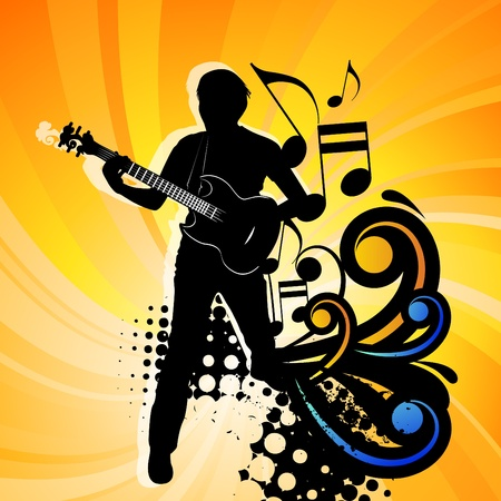 rock guitarist: Rock group guitarist