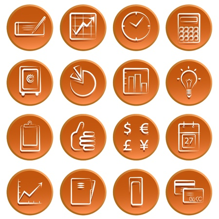 business finance icon set Stock Vector - 11096996