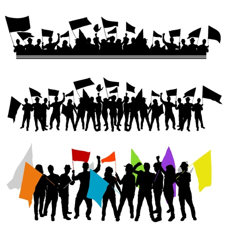 fun group with flags.  Vector