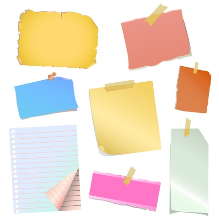 sticky paper: note paper vector Illustration