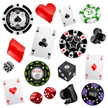 poker cards: casino design elements vector