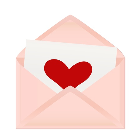 valentine's day greeting letter Stock Vector - 11096982