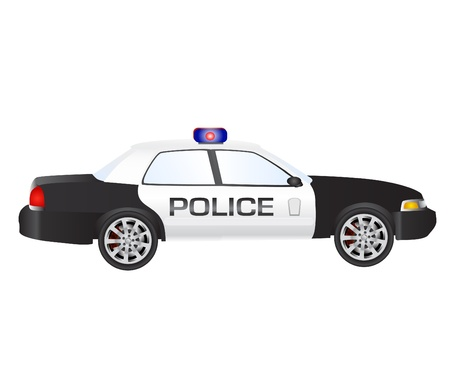 emergency services: police car vector