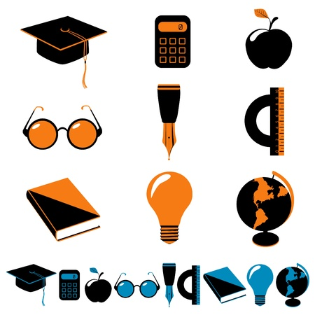 education icons Stock Vector - 11155531