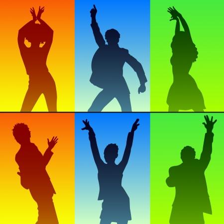 chicas bailando: bailarina silueta