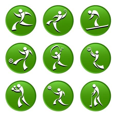 individual sports: sport icons Illustration