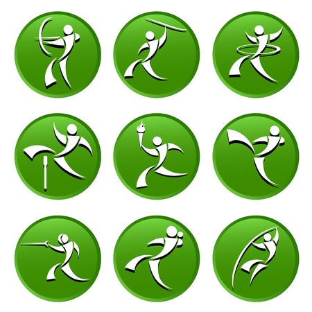 bowman: sport icons Illustration