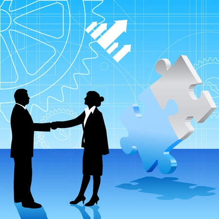 business people shaking hands: handshake Illustration