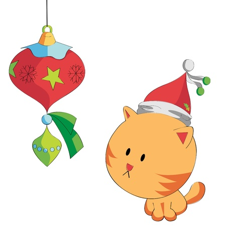 Christmas Cat Vector