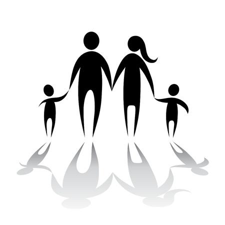 Familie Symbolvektors Vektorgrafik