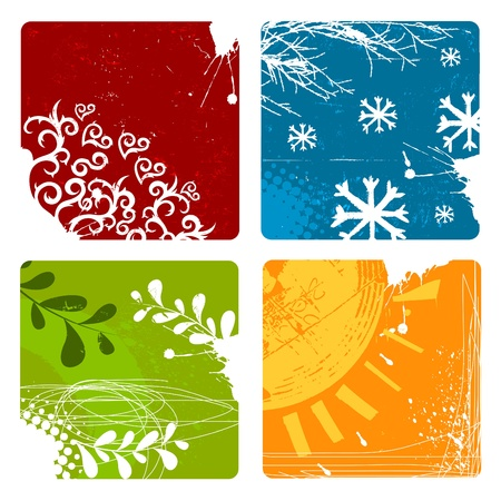 four season: nature backgrounds Illustration