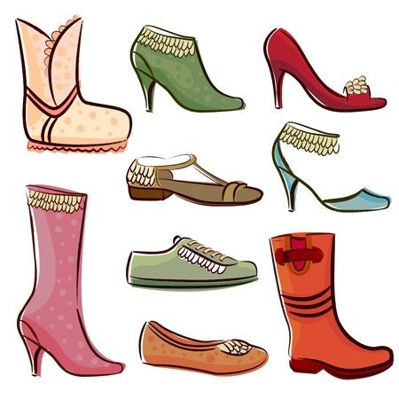 rubber sole: fashion women shoes