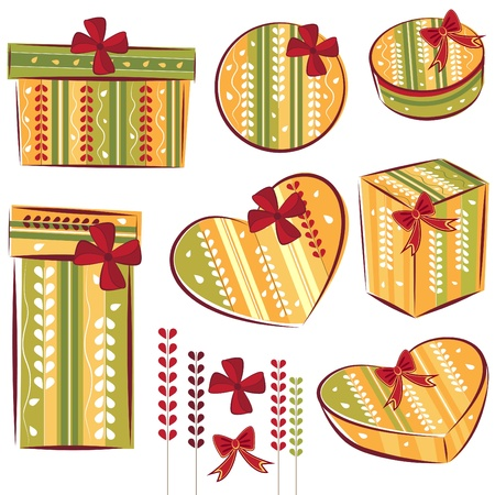 decorative gift box Vector