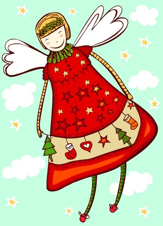 christmas angel Stock Vector - 11518969