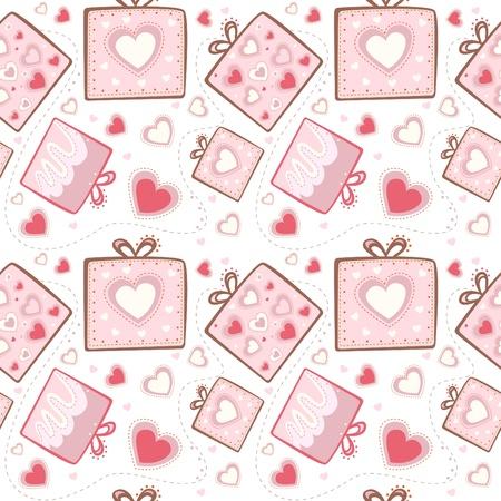 red gift box: gift pattern Illustration