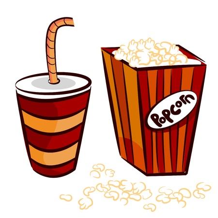 popcorn, drink   vector Vector