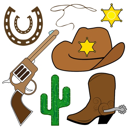 spur: wild west abstract vector Illustration