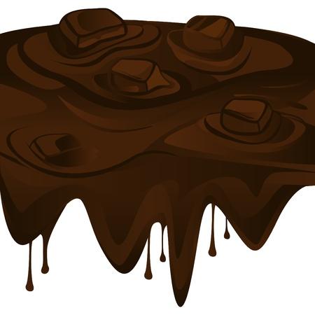 chocolate truffle: chocolate splash