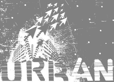 urban grunge: urban vector