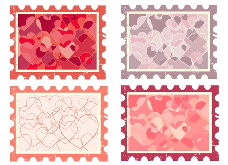 heart stamp  vector Vector