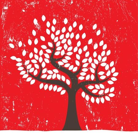 grunge tree background Stock Vector - 12285435