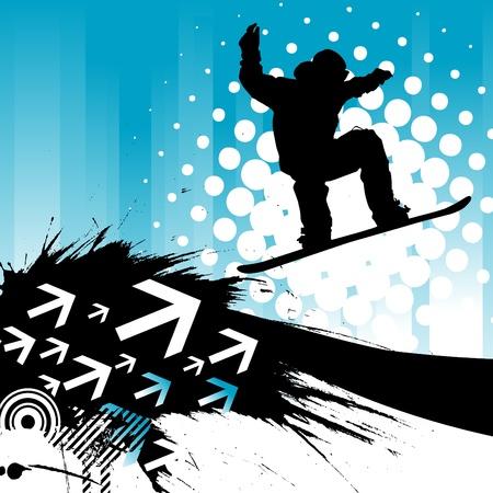 스키 타는 사람: 스노우 보드 배경
