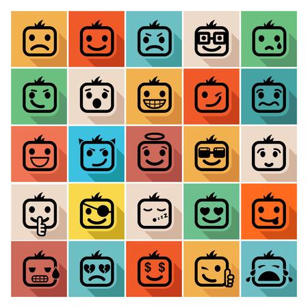 Smiley faces icon set Vector