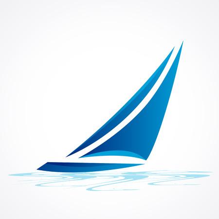 Barca a vela vettore